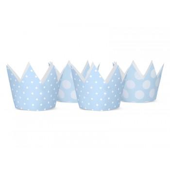 Korony Party 4szt błękit, 10cm