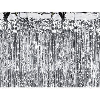 Kurtyna foliowa metalizowana srebrna 100x200cm