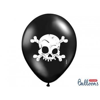 Balony Czaszka 6szt Halloween 30cm