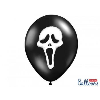 Balony Krzyk 6szt Halloween 30cm
