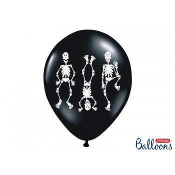 Balony Kościotrupy 6szt Halloween 30cm