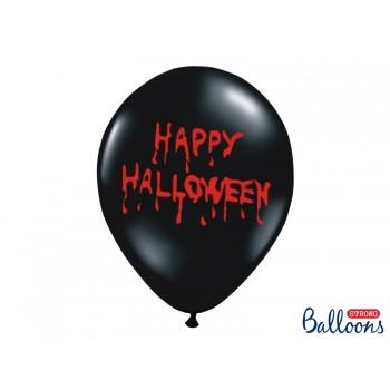 Balony Happy Halloween 6szt - 30cm
