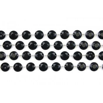 Girlanda kryształowa 1metr czarna