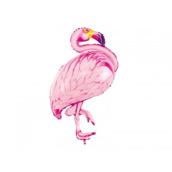 Balon foliowy różowy Flaming 70x95cm