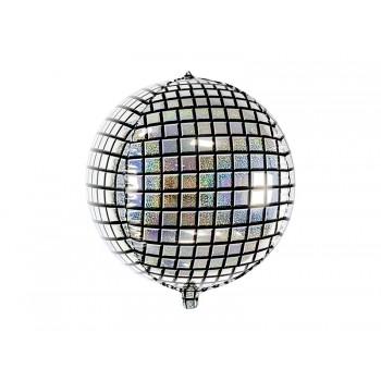 Balon foliowy holograficzny Kula dyskotekowa 40cm