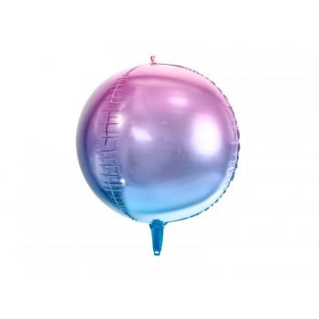 Balon foliowy metalizowany fioletowo-niebieski Kula ombre 35cm