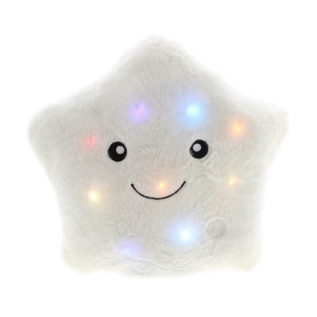 Poduszka świecąca led Gwiazdka Biała