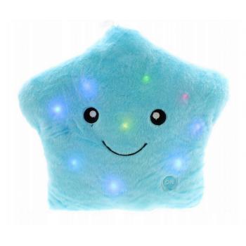 Poduszka świecąca led Gwiazdka Niebieska