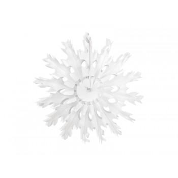 Rozeta 45cm Śnieżynka bibułowa biała