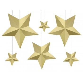 Gwiazdy 6szt - zawieszki