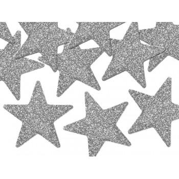 Brokatowe Gwiazdki 8szt - 5cm dekoracyjne