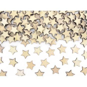 Drewniane konfetti Gwiazdki, 2x2cm