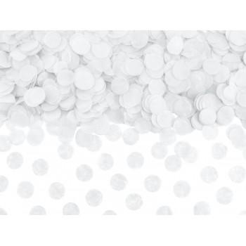Konfetti Kółka Bibułowe biały 15g