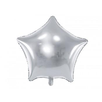 Balon foliowy metalizowany srebrny Gwiazdka 48cm