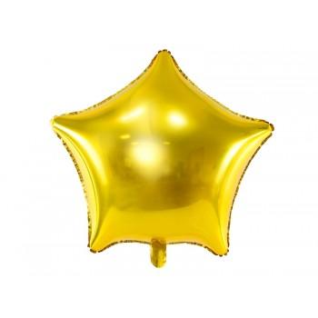 Balon foliowy metalizowany złoty Gwiazdka 48cm