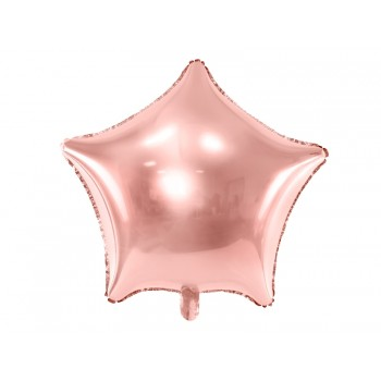 Balon foliowy metalizowany różowe złoto Gwiazdka 48cm