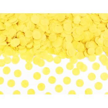 Konfetti Kółka Bibułowe żółty 15g