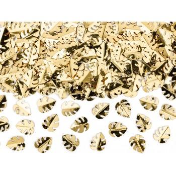 Konfetti metalizowane Liście, złoty 15g