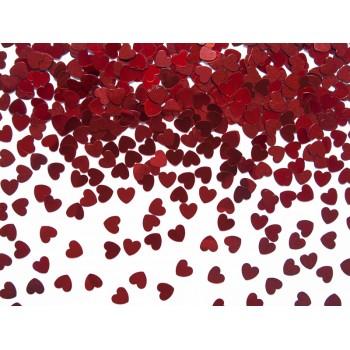 Konfetti Serca, czerwone 5mm, 30g