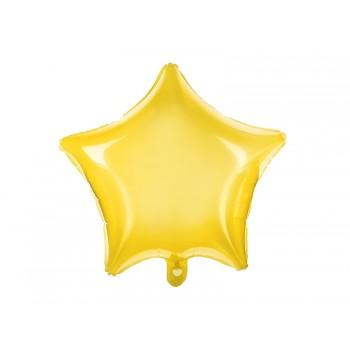 Balon foliowy neonowy żółty Gwiazdka 48cm