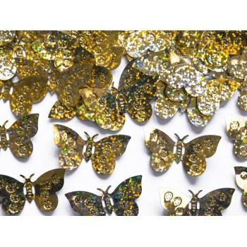 Konfetti holograficzne Motyle złote 15g