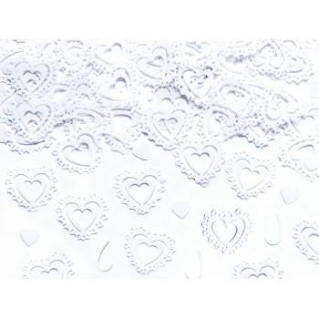 Konfetti Serca białe 15g