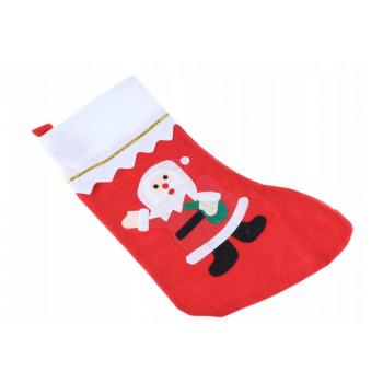 Skarpeta świąteczna zdobiona Mikołajem