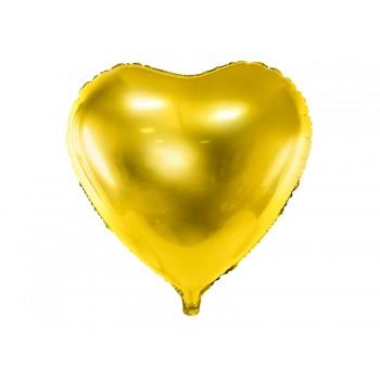 Balon foliowy metalizowany złoty Serce 45cm
