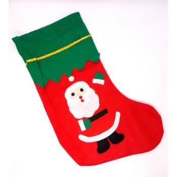 Skarpeta świąteczna zdobiona - Mikołaj