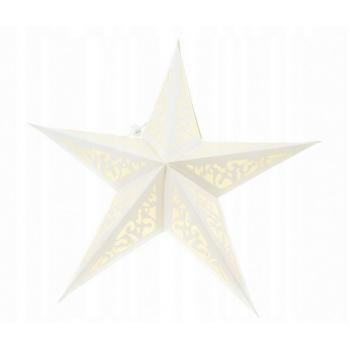 Witraż 60cm - świecący lampion Gwiazda