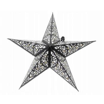 Witraż 30cm - świecący lampion Gwiazda