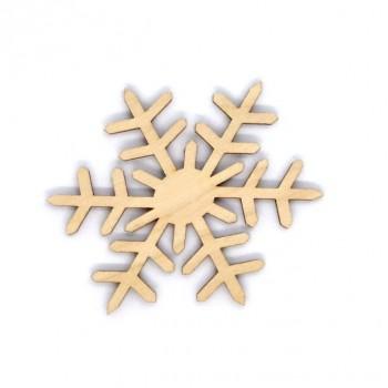 Zawieszka drewniana Śnieżynka 8cm