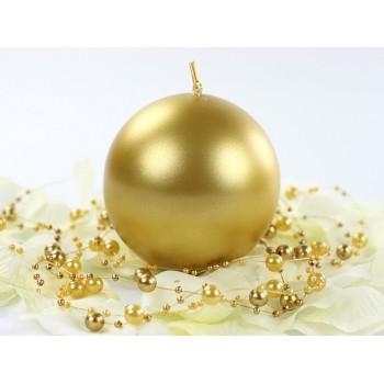 Świeca 6cm metalizowana - złota