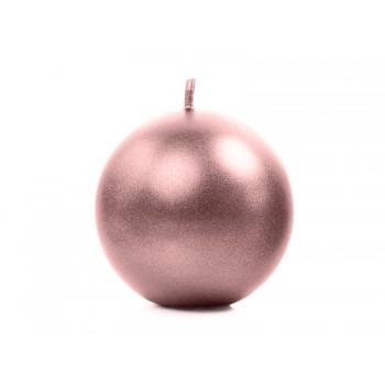 Świeca 6cm metalizowana - różowe złoto