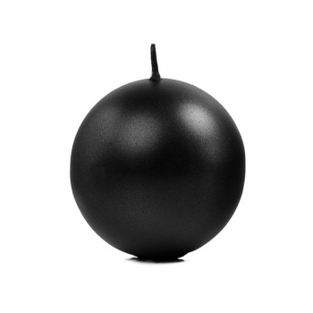 Świeca 8cm metalizowana - czarna