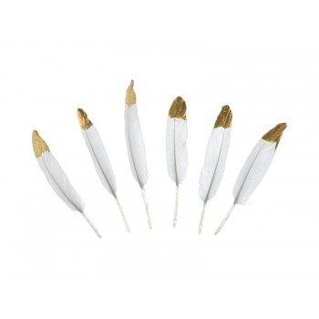 Piórka dekoracyjne 10-16cm - biały