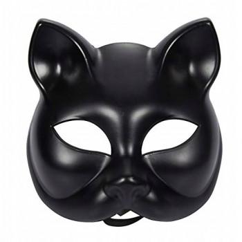 Maska Kot wiązana czarna