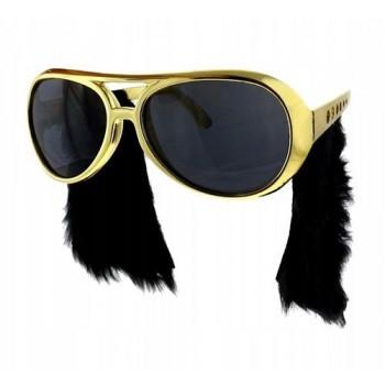 Okulary Elvis Presley złote