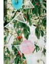 Girlanda papierowa kolor perłowy 19,5 x 3m