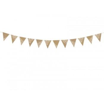 Girlanda papierowa Flagietki Flagi Kraft 2,1m