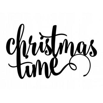 Napis Christmas Time- dekoracja świąteczna