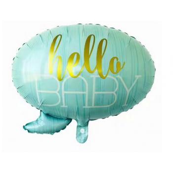 Balon foliowy - Hello Baby blue 60x55