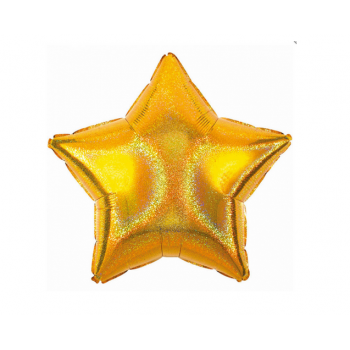 Balon foliowy holograficzny złoty 18 cali