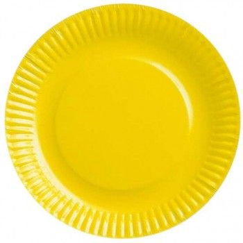 TALERZYKI 6szt Gładkie - żółte 18cm