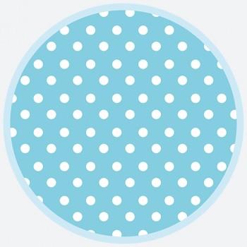 TALERZYKI 6szt Kropki - niebieskie 18cm