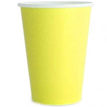 Kubeczki 6szt gładkie żółte 250ml