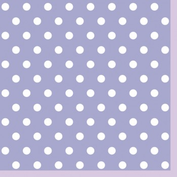Serwetki Kropki Fioletowe - papierowe 33x33