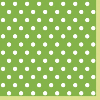 Serwetki Kropki Zielone - papierowe 33x33