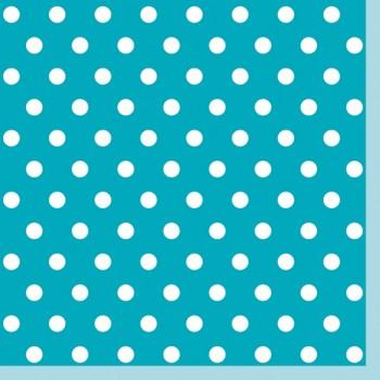 Serwetki Kropki Niebieskie - papierowe 33x33