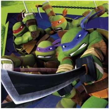 Serwetki Żółwie Ninja - papierowe 33x33